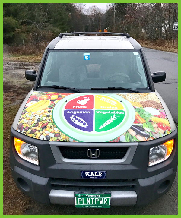 Look for Beth around town in her veg mobile!